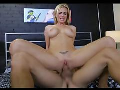 British slut Tanya gets fucked on a bed