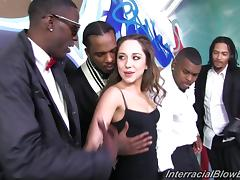 Charming Chanel Preston Sucks A Lot Of Big Black Cocks