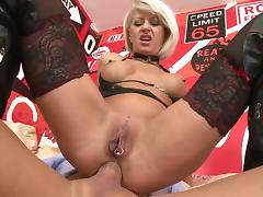 Thomas Stone fucks with blonde Cathy E