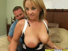 MILF with big nipples gets banged in a bedroom
