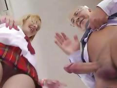 British Old and Young, Big Cock, Blonde, Blowjob, Boots, British