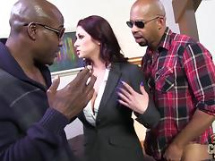 Goddess Tiffany Mynx Gets DP By Two Big Black Cocks porn tube video