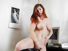 Great looking chubby girl stripping