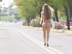 Gorgeous FTV girl is washing a car naked