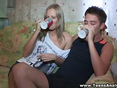 Olga and Mark are Hot Drunk Teens Fuck each Other, All Holes!