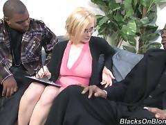 Delightful Clara Beau Goes Hardcore With Two Black Dudes