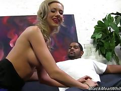 Kaylee Hilton has Huge Nipples and Talks While Jacking a Black Guy! tube porn video
