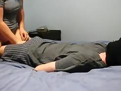Stroking his chunky manhood