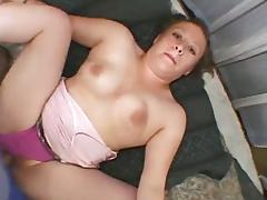 Chubby slut gives a titjob after doggy style sex in homemade scene