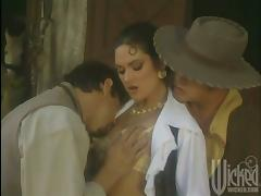 Cantina Girl Fucked Hardcore in a Barn During a Threesome tube porn video