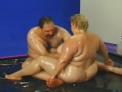 Fat, BBW, Blonde, Blowjob, Couple, Fat