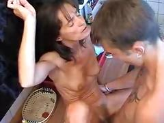 Mom and Boy, 18 19 Teens, Mature, MILF, Russian, Skinny