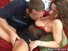 Mouthwatering Cheryl Masturbates While Sucking A Big Cock