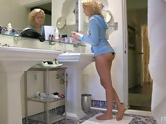 Cute Blonde Shows Her Hot Ass While Getting Dressed
