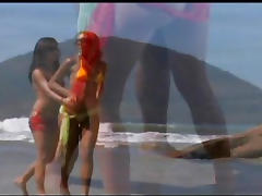Carol and Ane Ferrari - Shooting my love on her pretty tits