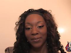 Sexy Black Girl Gets an Interracial Blowjob Gangbang