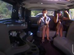 Carmen Hart and Ryder Skye, Super Hot Cougars Lesbian Fucking in the Backseat!