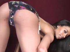 Candy ebony girl is so eager to take it in her mouth
