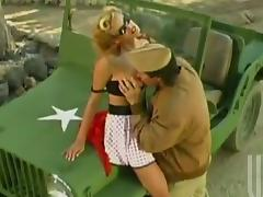 Stormy Daniels gets her snatch licked and fucked by a soldier tube porn video