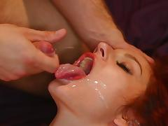 Bedroom, Bedroom, Blowjob, Brunette, Facial, Pornstar