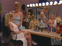 Two blonde milfs enjoy licking each other's cunts in lesbian scene
