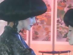 Two chicks in Japanese costumes go wild
