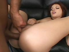 Anal assault with lustful brunette