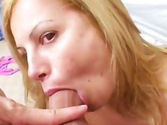 POV blowjob by smiling brunette Friday
