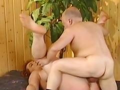 Mature Kira Red fucks with fat man tube porn video