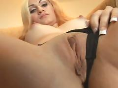 A cute blonde gives a pleasurable blowjob in a POV video