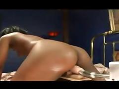 Black, Black, Ebony, Machine, Masturbation
