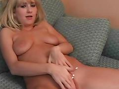 Smiling young blonde is riding on the dick tube porn video