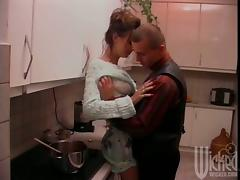 Anna Marta gets fucked in the kitchen and in the bathroom