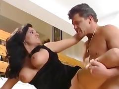 Sexy brunette Annastasia fucks with pink dick
