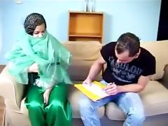 Beatiful Arabian chick getting fucked on the sofa tube porn video