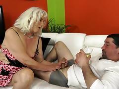 Granny Judi is getting hardcore fucked