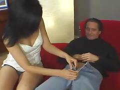 A stunning brunette is going to immerse in orgasm