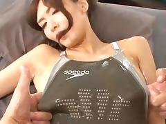 Suitaku Nono swimsuit oil japanese big tits tube porn video