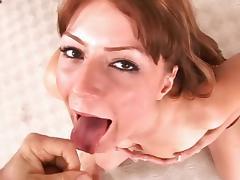 Teen Elli Foxx is sucking dick so deep porn tube video