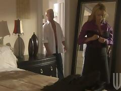 Sexy And Elegant Blonde Has Some Dick Licking Fun After Work