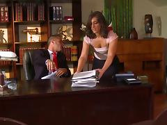 Naughty Secretary Gets Her Pussy and Asshole Worked tube porn video