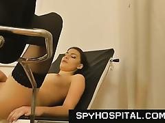 Medical exam hidden camera in gyno clinic porn tube video