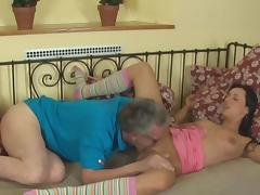 Old and young scene with sexy babe Terra Sweet