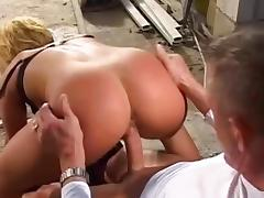 Sweet blonde Anja is sucking this spicy dick tube porn video