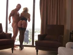 Blindfolded Jessica Drake blows a cock and gets nailed hard