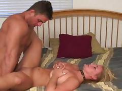 Bed, Bed, Blonde, Blowjob, Hardcore, MILF