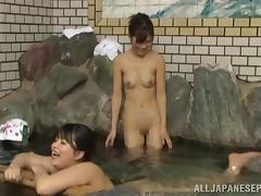 Mom and Boy, Asian, Bath, Bathing, Bathroom, Beauty