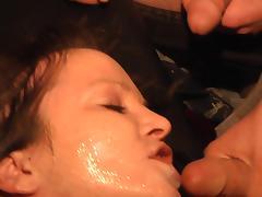 bukkake with hot chick