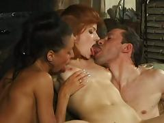 Appetizing Brooke A. And Her Kinky GF Go Hardcore With A Nasty Guy tube porn video