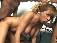 Pretty Nicole Moore Has An Interracial Threesome With Two Black Men porn tube video